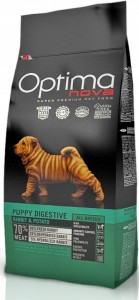 Optimanova Puppy Digestive Rabbit&Potato 0,8kg
